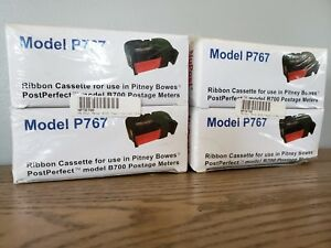 Nupost P767 Riboon For Pitney Bowes Model B700 Postage Meters 767 1 4 pack