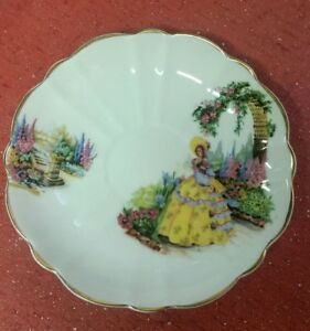 Vintage Victoria Bone China C E England Saucer Only 5 1 2 Handpainted