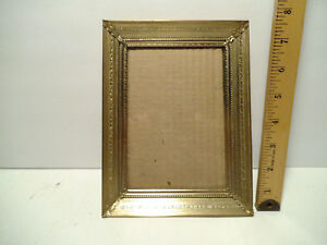 Vintage Ornate Gold Picture Frame Metal Photo Tabletop Holds 5 X 7