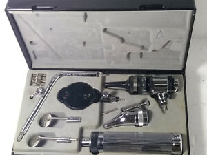 Riester Pocket Otoscope Ophthalmoscope Set 2 7v Vacuum Bulb In Case