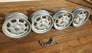 4 Mahle 4 Lug Wheels Gas Burners Vw Porsche 914