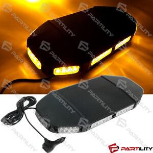 21 Inch Amber Magnet Emergency Warn Hazard Security Strobe Led Light Bar Roof