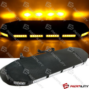 31 Inch Amber Magnet Emergency Warn Hazard Security Strobe Led Light Bar Roof