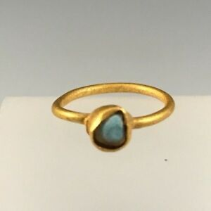 Ancient Roman Gold Ring With Turquoise Stone Gorgeous Piece