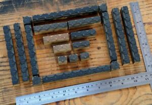Letterpress Border Wooden Printing Blocks Ornaments Art Nouveau W