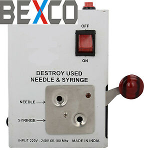 Top Quality Syringe Destroyer Cutter Heavy Duty Fuse By Brand Bexco Dhl Ship