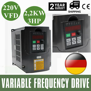 2 2kw 3hp Vfd 10a 220v Single Phase Speed Variable Frequency Drive Inverter Dhl