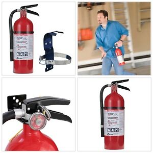 Fire Extinguisher Bundle Mounting Bracket Rechargeable Safety Tool Pro 2a 10 b c