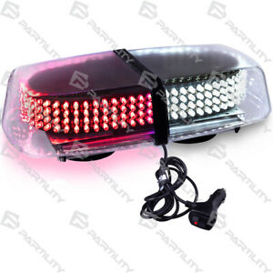 240 Led Red White Light Emergency Warn Strobe Flash Traffic Magnet Roof Advisor