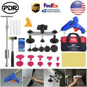 Us Pdr Tools Paintless Dent Repair Puller T Bar Slide Hammer Glue Hail Removal