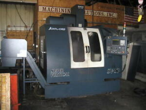 2004 Johnford Sv 32 Cnc Vert Mach Center With Fanuc 0imb With Yuasa 4th Axis