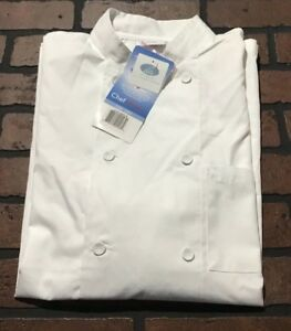 Chef Works Men s Cool Vent Chef Shirt Jlcv White Size Small Nwt
