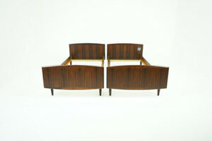 Danish Mid Century Modern Pair Of Rosewood Beds 310 096