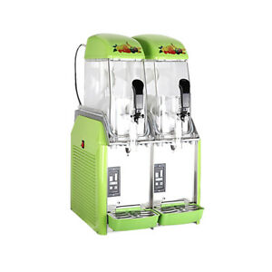 New Dual Bowl Margarita Slush Frozen Drink Machine Green