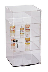 3 shelf Acrylic Rotating Tower Display Case Box comes With Lock