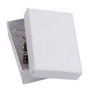 3 1 16 X 2 1 8 X 1 Inch Cotton Filled White Kraft Jewelry Boxes Case Of 100