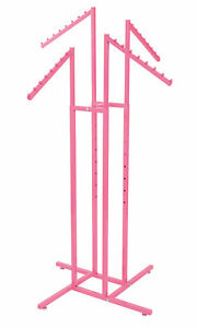 Hot Pink 4 Way Slanted Arm Clothing Rack