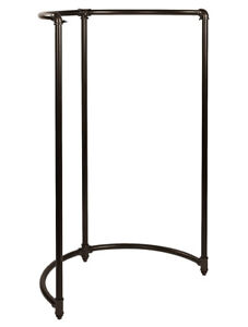 Boutique Pipe Half Round Clothing Rack