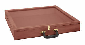 36 Inch Portable Cherry Wood Countertop Display Case 24 w X 36 l X 4 d