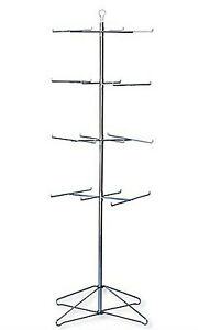 4 tier Chrome Wire Spinner Rack 6 Tiers Space 12 Apart