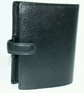 Filofax The Original Organizer Pebbled Leather Planner Made In England 5 1 x4 5