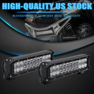 12inch 7w Double Rows Combo Beam Atv Utv Truck Offroad Car Led Light Bar 126