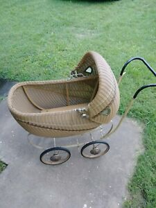 Late 1800 S Early1900 S Antique Vintage Stroller Baby Carriage Wicker Buggy
