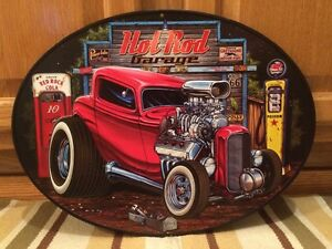 Hot Rod Garage Metal Decor Gas Pump Coupe Rat Rod Oil Bar Industrial Ford Chevy