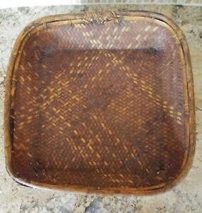 Square Rattan Ifugao Rice Storage Or Food Serving Basket Philippines