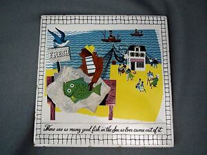 Vintage 8 Chandler Harbor Tile Island Life Good Fish In Sea As Ever Came Out