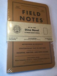 Field Notes Dime Novel Special Edition Blank Books 2 pack 4 1 4 6 1 2 Fall