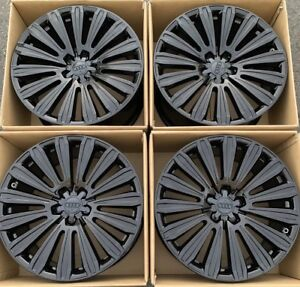 20 Audi A8 Oem Factory Wheels Rims Gloss Black Set Of 4 58961