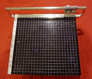 Vintage Early Nikor Safety Trimmer 12 Rotary Blade Photo Paper Cutter Rare