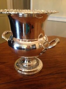 Vintage Silverplated Wine Cooler Bucket By Sheridan