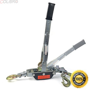 Colibrox new 3 hook Come A Long 4 Ton 8000 Lb Winch Hoist Hand Cable Puller Hd