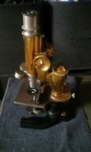 Antique Brass Bausch Lomb Microscope Eye Catching Historical Piece