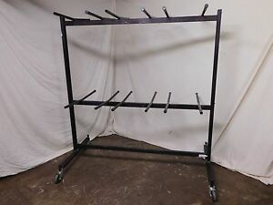 Two Tier Folding Chair Storage Rack Caddy Used