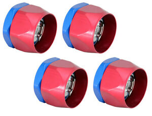Heater Hose Fitting 33604 Clamp For 3 4 I d hose Qty 4 Red blue Worm Gear