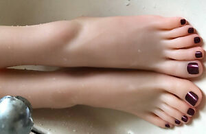 Full Silicone Female Foot Mannequin Model Shoes Display Size 37 A449