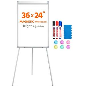 36x24 Magnetic Adjustable Whiteboard Dry Erase Easel Writing Board Tripod Stand