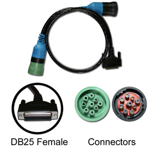 Cummins Inline 6 Adapter 9 Pin Cable With Green Type Ii Deutsch Connector