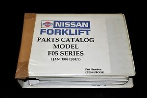 Nissan Forklift F05 Series Parts Catalog Manual jan 1998 Issue Cf090 ubook