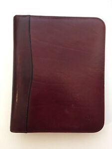 Vtg Franklin Covey Quest Classic Supple Burgundy Leather Buttery Planner Binder