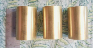 1 C360 Brass Solid Round Rod 1 1 2 Long 3 Pieces 1 Od New Lathe Bar Stock