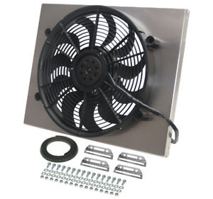Derale 16822 High Out Single 17 Electric Rad Fan Shroud Kit 22 1 4w 17 5 8h 3d