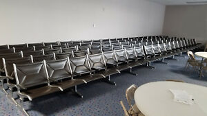 Eames Herman Miller Tandem Sling Airport Bench Chairs 4 Seats Mid Century Modern