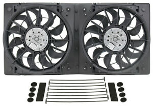 Derale 16928 Dual 12 Electric Rad Fan steel Shroud Kit 28 5 8w 13 7 8h 3 1 4d