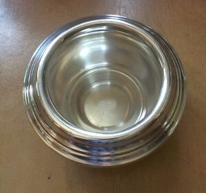 Vintage Reed Barton 2800 Silverplate Candy Nut Dish Removable Ring Unique