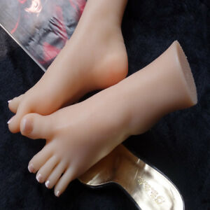 Silicone Foot Model Mannequin Shoes Display Toe Bone 38 A353