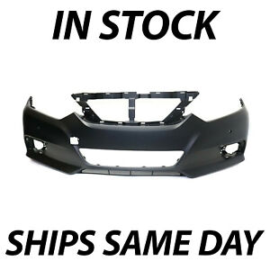 New Primered Front Bumper Cover Fascia For 2016 2018 Nissan Altima W Park Ast